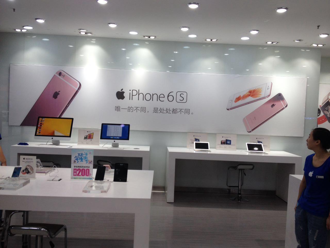 卖场iPhone6S油画布