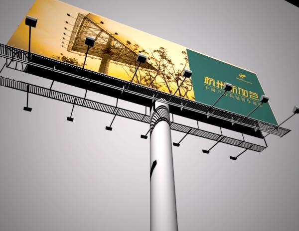 户外单立柱广告