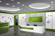 成都LOGO标志墙、企业前台形象墙设计制作广告公司